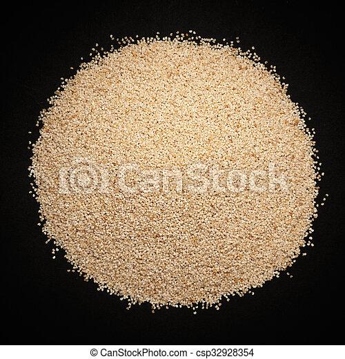 Organic White Poppy seeds. - csp32928354