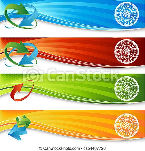 organico, set, bandiera - csp4407728