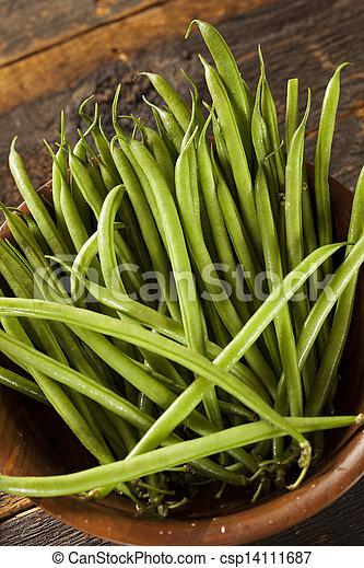organiczny, francuski, surowy, zielony groszek, świeży - csp14111687