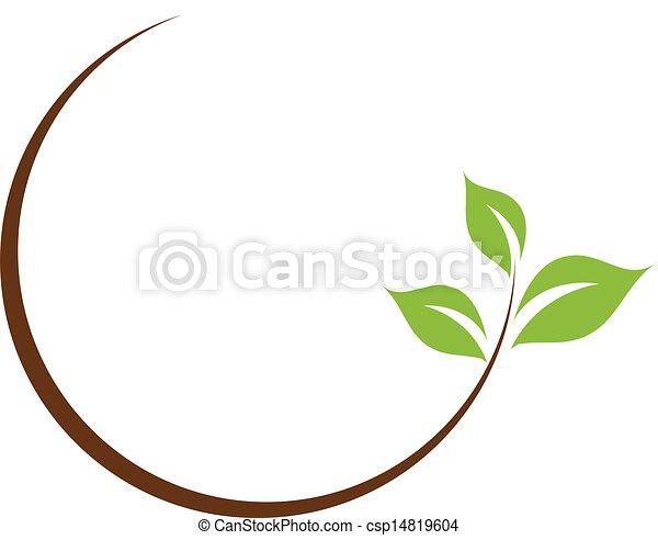 organisch, blad, logo - csp14819604