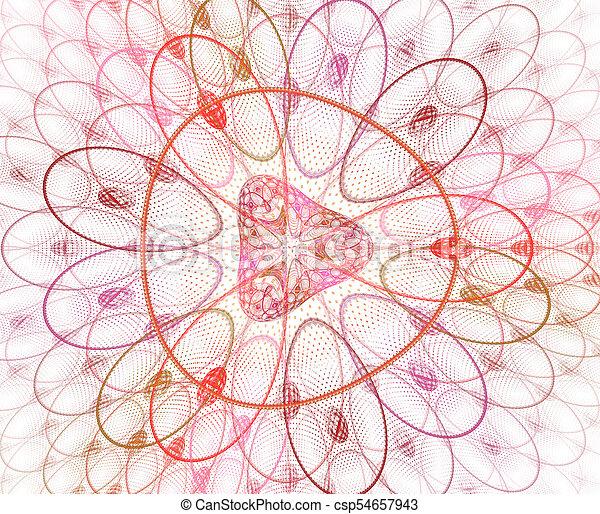 organische , illustration., bunte, muster, abstrakt, blossom., image., fractal, –, hintergrund, forms., zoomed, blume, geometrisch, rgeöffnete, zellen, geometrisch - csp54657943