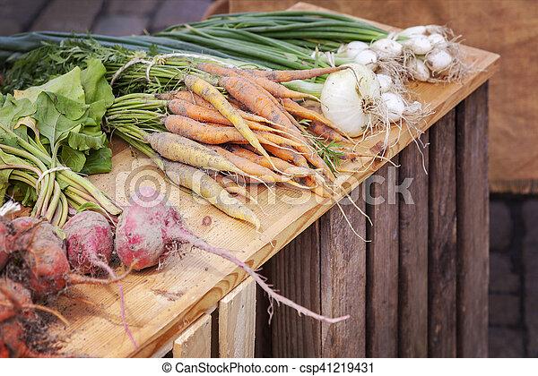 organisk, grönsaken, rot - csp41219431