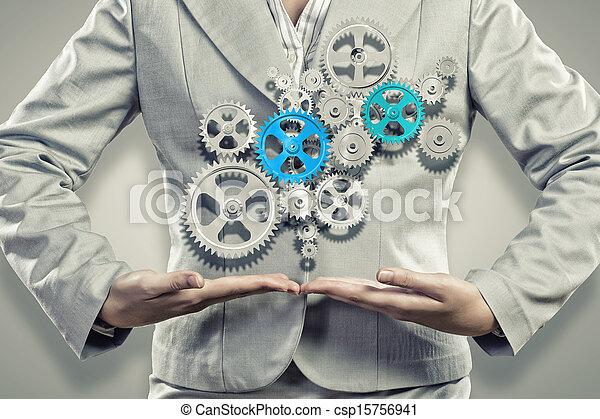 Organización de negocios - csp15756941