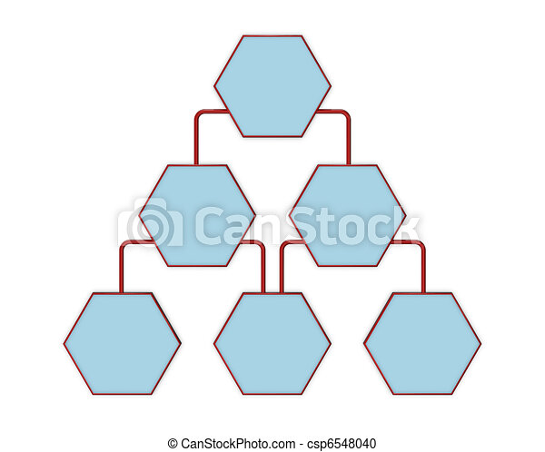 Simple Organization Chart With Blank Spaces D Render Stock