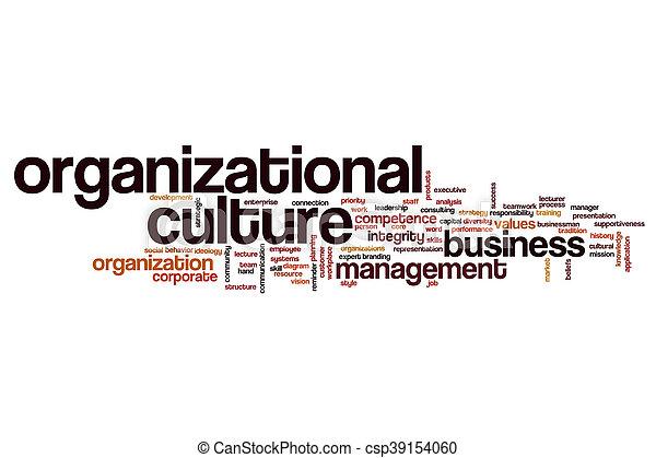 Organizational culture word cloud concept - csp39154060