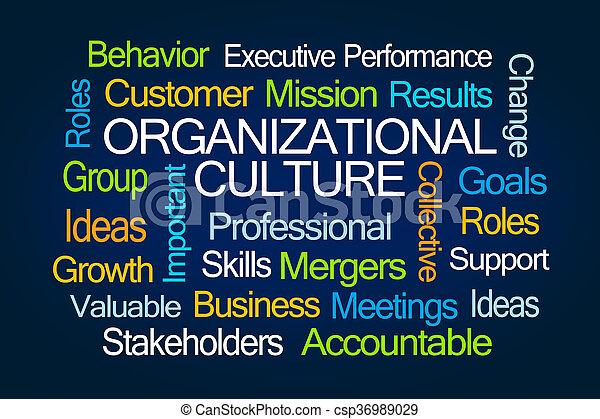 Organizational Culture Word Cloud - csp36989029
