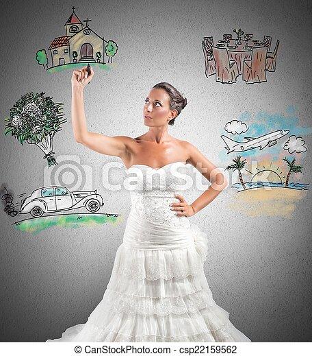 Organizing a wedding - csp22159562