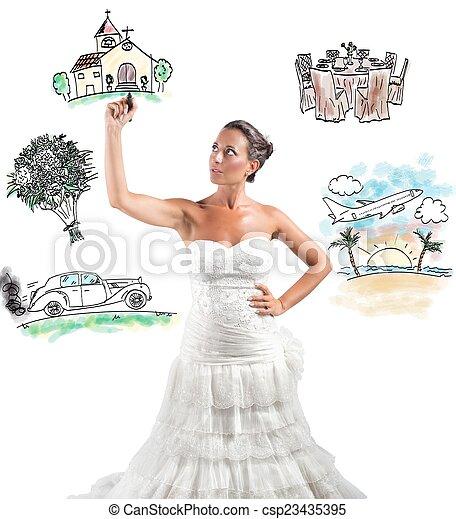 Organizing a wedding - csp23435395
