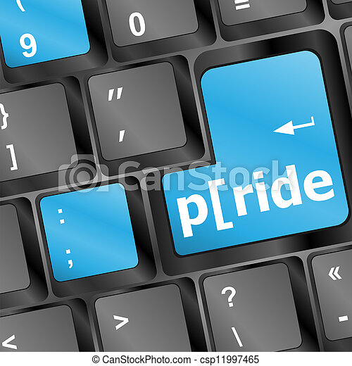 orgoglio, computer, parola, chiave, tastiera - csp11997465