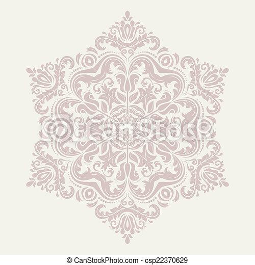 Orient vector ornamental round lace - csp22370629