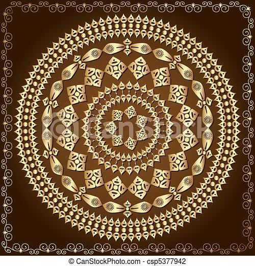 oriental arabesque pattern gold - csp5377942