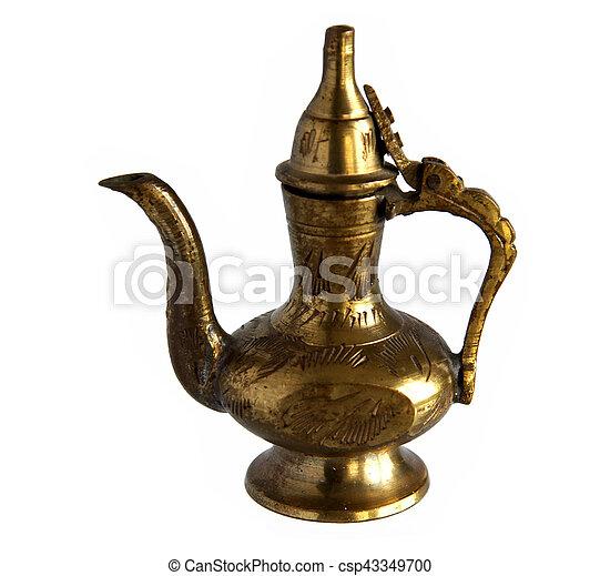 Oriental brass coffee pot - csp43349700