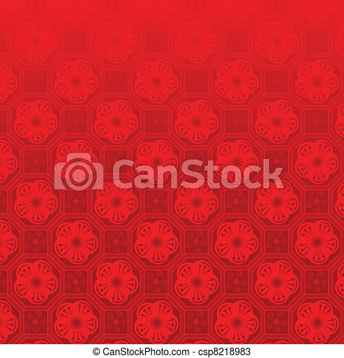 Oriental Chinese New Year seamless pattern - csp8218983