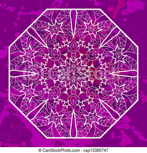 Oriental mandala motif in pink - csp13380747