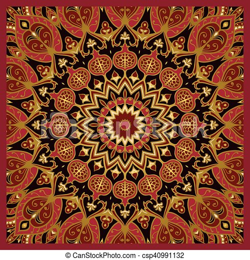 oriental pattern for carpet oriental pattern of mandala vector