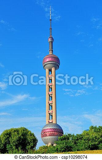 oriental pearl tower in Shanghai - csp10298074
