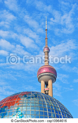 oriental pearl tower in Shanghai - csp10964616