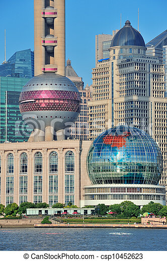 oriental pearl tower in Shanghai - csp10452623