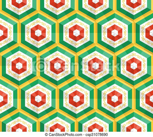 orientale, vettore, pattern., seamless, fondo - csp31078690