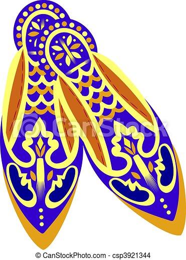 orientalisk, skor