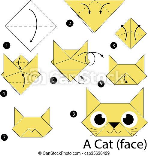 Origami Cat Face | 470x444