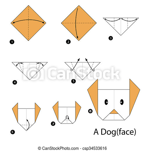 Dog face | Origami & How to draw | Smart Crafts | 470x450