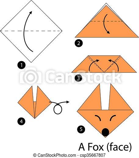 Origami A Fox
