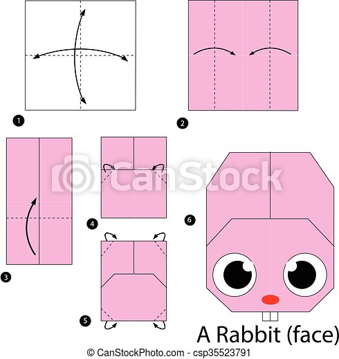 Origami Bunny =D Yay! · How To Fold An Origami Rabbit · Origami on ... | 470x441
