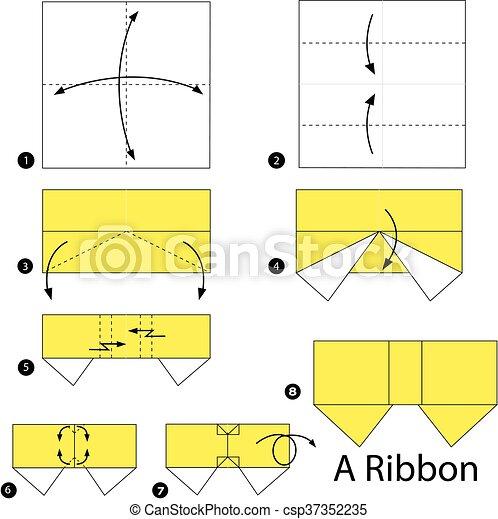 Origami Bow Tie Folding Instructions / Origami Instruction on ... | 470x449