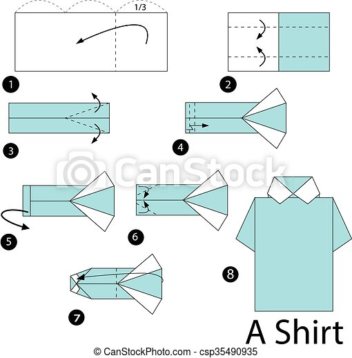 Step By Step Instructions How To Make Origami A Shirt