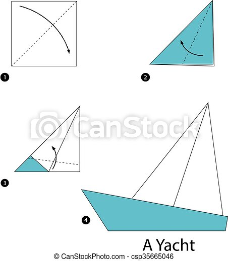 Step By Step Instructions How To Make Origami A Yacht