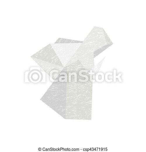 Origami Ange Icône Décoratif Ange Signe Papier Conception