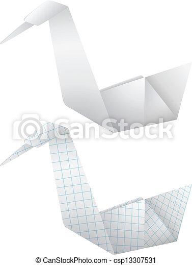 Pájaros de origami - csp13307531