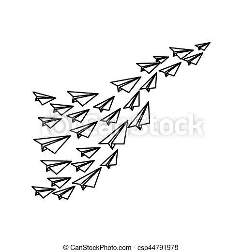 origami avion papier vecteur graphique avion illustration vecteurs rechercher des. Black Bedroom Furniture Sets. Home Design Ideas
