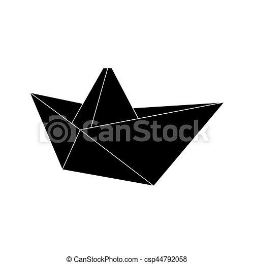 Origami Bateau Voile Graphique Nautisme Illustration Vecteur Conception Origami Bateau Icone Canstock