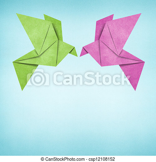 Origami Bird Made From Recycled Paper Origami Bird Recycled Paper