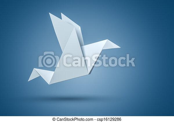 Origami Bird - csp16129286