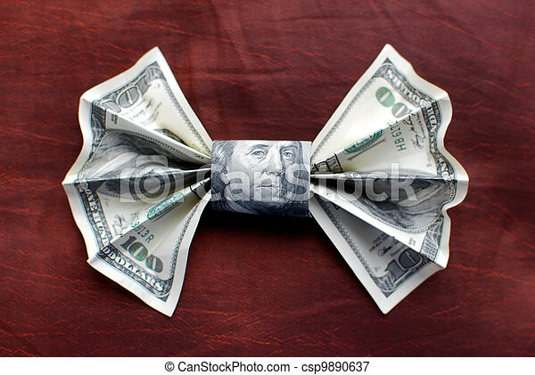 Origami Bow Tie Made From Bill