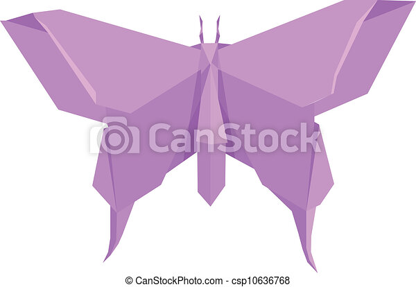 Illustration Of An Origami Butterfly