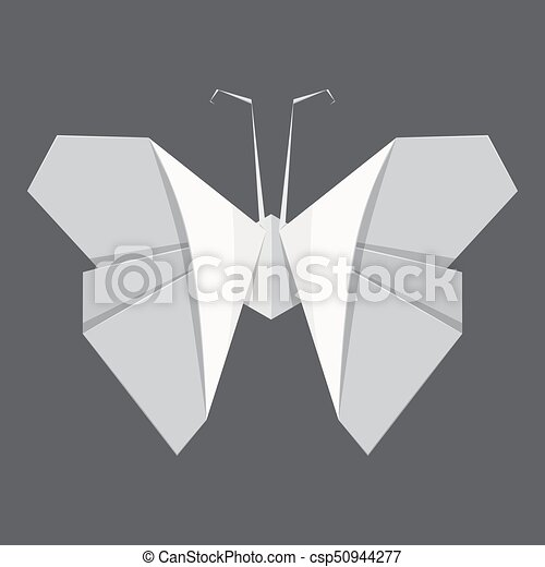 Origami Butterfly Concept Background Realistic Style