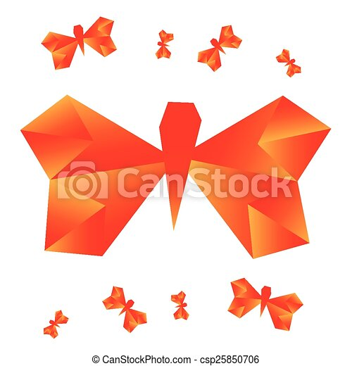Origami Butterfly Vector Illustration