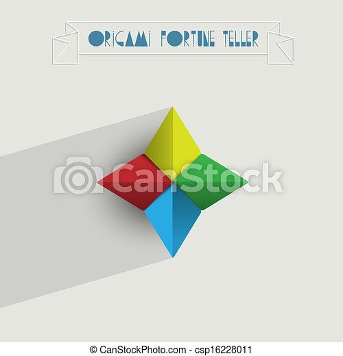 Origami Caixa Fortuna Origami Vetorial Fortuna Eps10 Teller