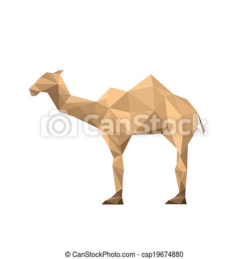 origami camel - csp19674880
