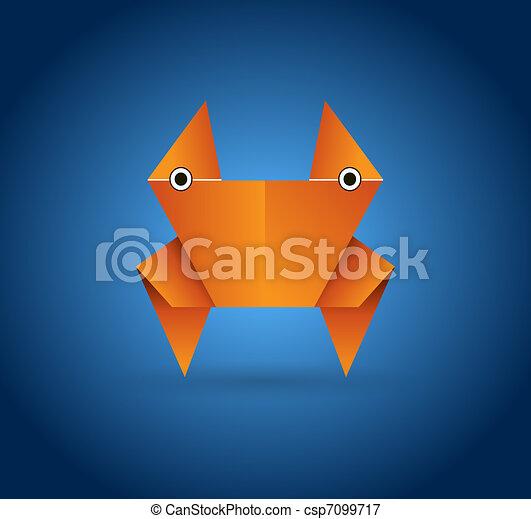 origami, carangueijo - csp7099717