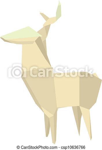 Illustration Of An Origami Deer