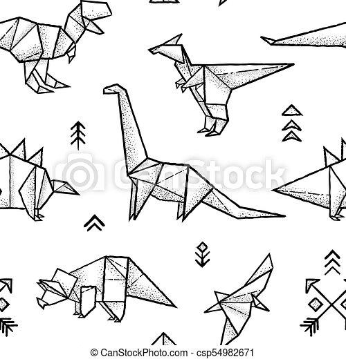 How To Make an Easy Origami Dinosaur?(Jo Nakashima)Origami-dragon ... | 470x450