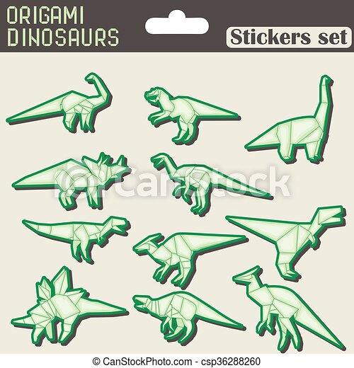 origami dinosaurio