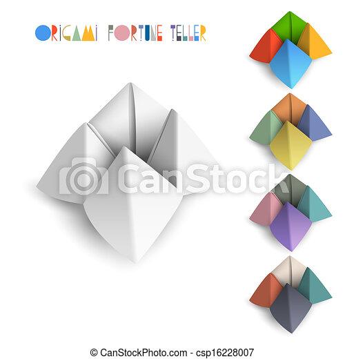Colorido origami adivino - csp16228007