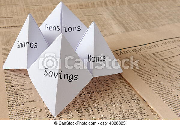 Origami Fortune Teller Origami Fortune Teller On Financial Paper