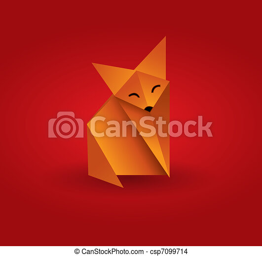 Origami Fox This Image Is A Vector Illustration And Can Be Scaled